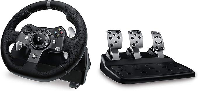 Logitech G920 Volante + Pedales PC, Xbox One Negro - Volante/mando ...