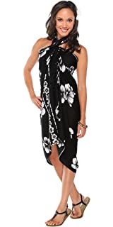 95018d67c7 1 World Sarongs Womens Hibiscus Flower Swimsuit Sarong in Your Choice of  Color