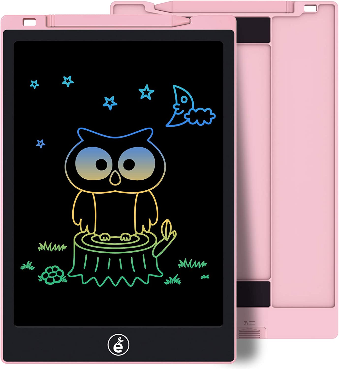 Kids Drawing Writing Boards LCD Writing Tablet, 11 Inch Electronic Colorful Screen Doodle Scribbler Board Writing Pad for Kids and Toddlers at Home, School and Kindergarten (Pink)