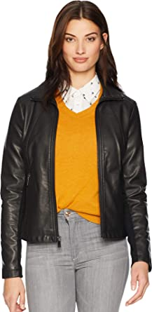 Kenneth Cole Womens Classic Moto Jacket