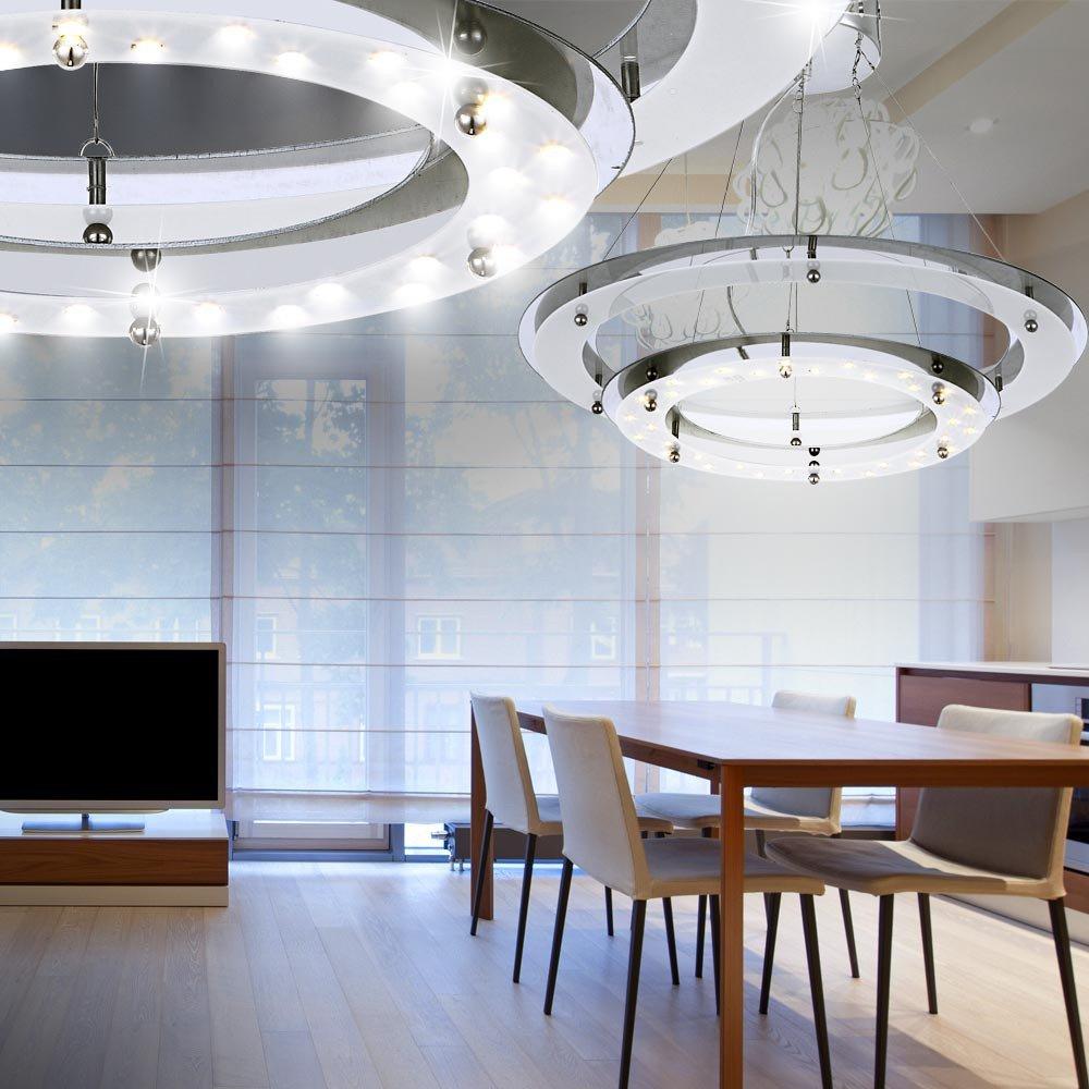 18W LED Hängelampe Pendel Decken Lampe Leuchte Beleuchtung Globo ...