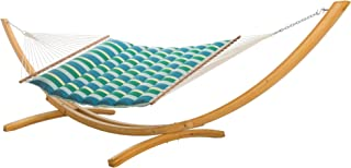 product image for Hatteras Hammocks Gateway Tropic Sunbrella Pillowtop Hammock with Free Extension Chains & Tree Hooks, Handcrafted in The USA, Accommodates 2 People, 450 LB Weight Capacity, 13 ft. x 55 in.