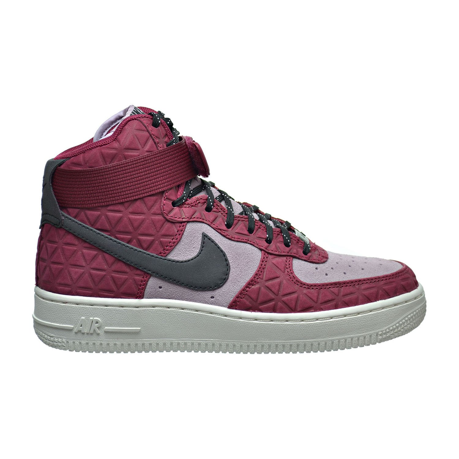 Nike Women's Air Force 1 Hi Premium Black/Black Gum Med Brown Sail Basketball Shoe B00UNJ0FBC 7 B(M) US|Noble Red/Black-plum Fog-summit White