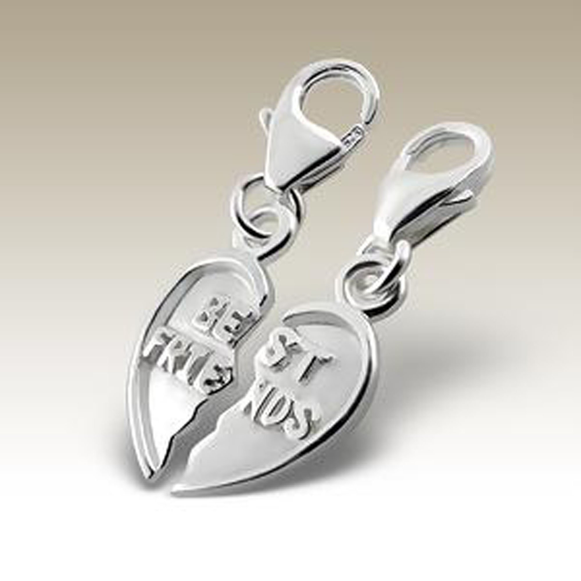 Best Friends Charms, Silver Charms with Lobster, Sterling Silver 925 (E12912)