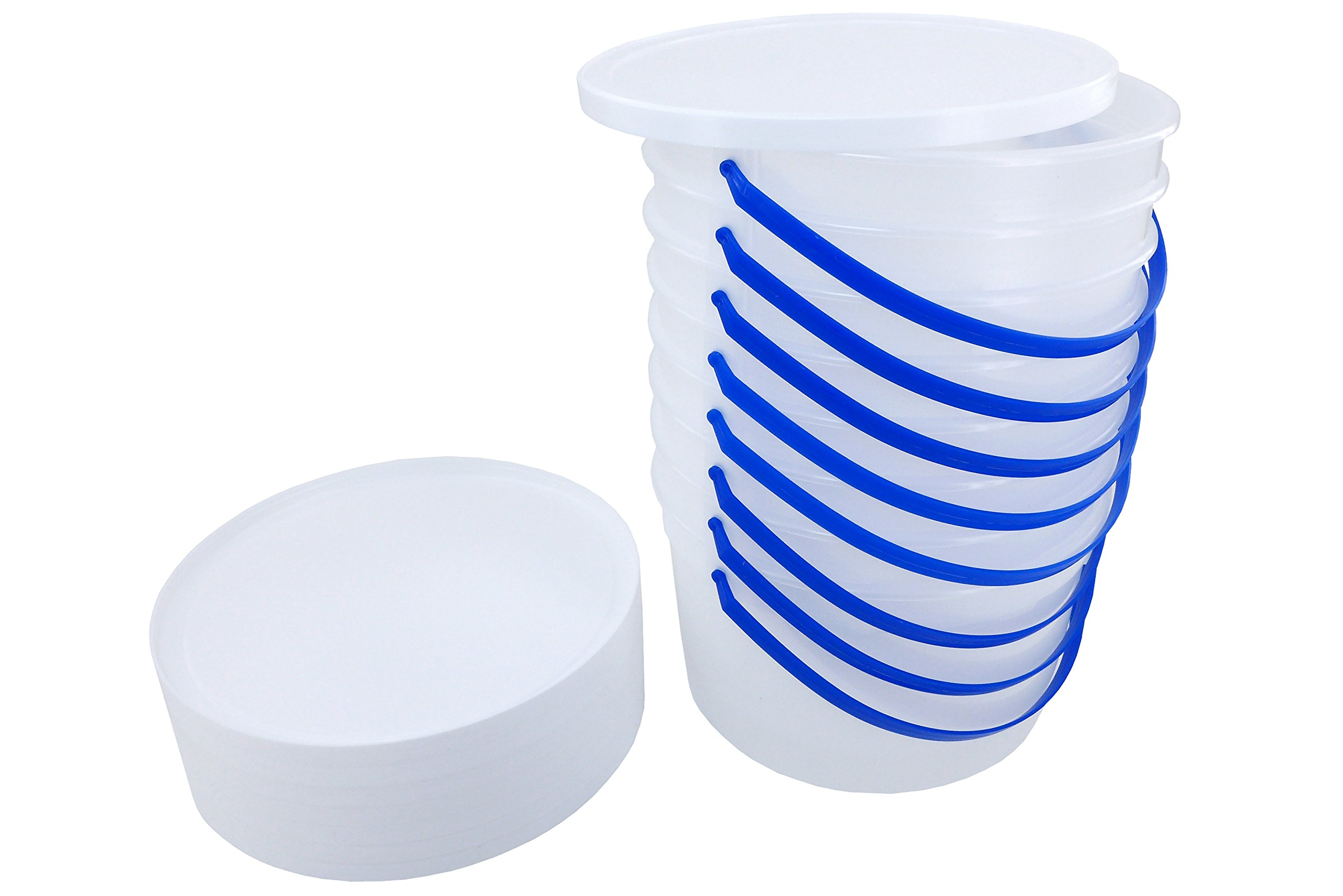1 Gallon Ice Cream Tub with Lid (8) by Poly Farm