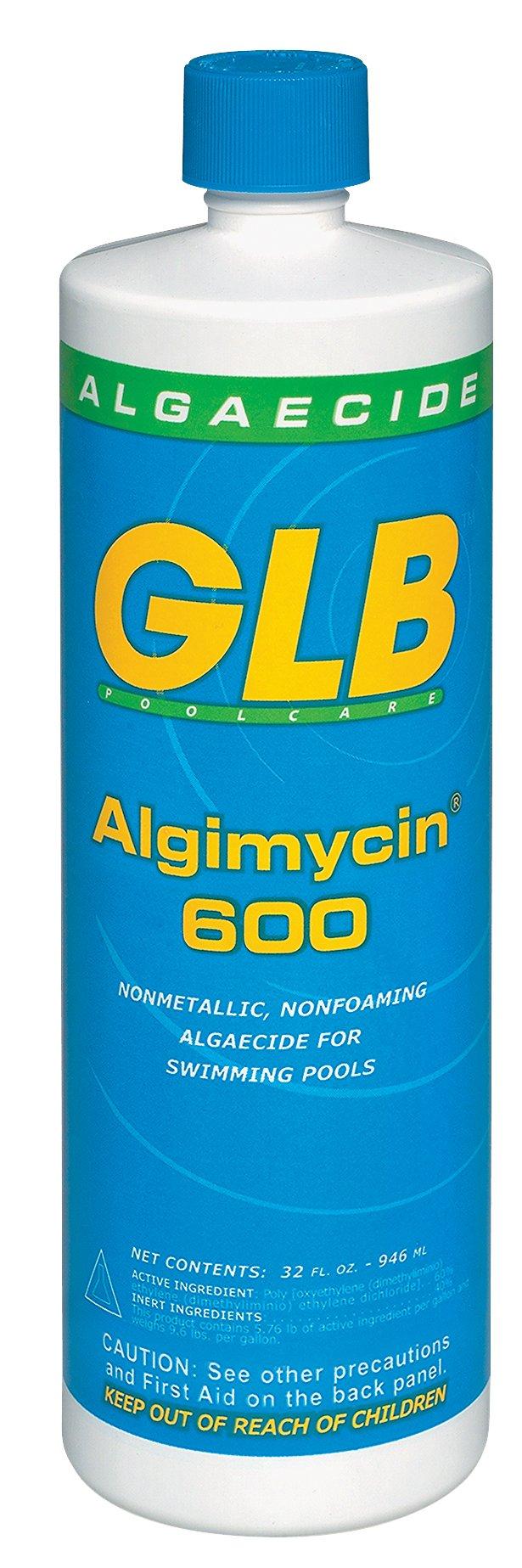 GLB Pool & Spa Products 71108 Algimycin 600 1-Quart Algaecide