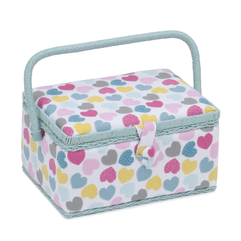 Boîte à couture Taille moyenne/organiseur–Amour (cœurs) | Hobbygift MRM \ 276| 19x 26x 14.5cm Hobby Gift