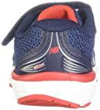 New Balance Boys' 680v5 Hook and Loop Running Shoe, Pigment/Velocity RED, 3 XW US Infant