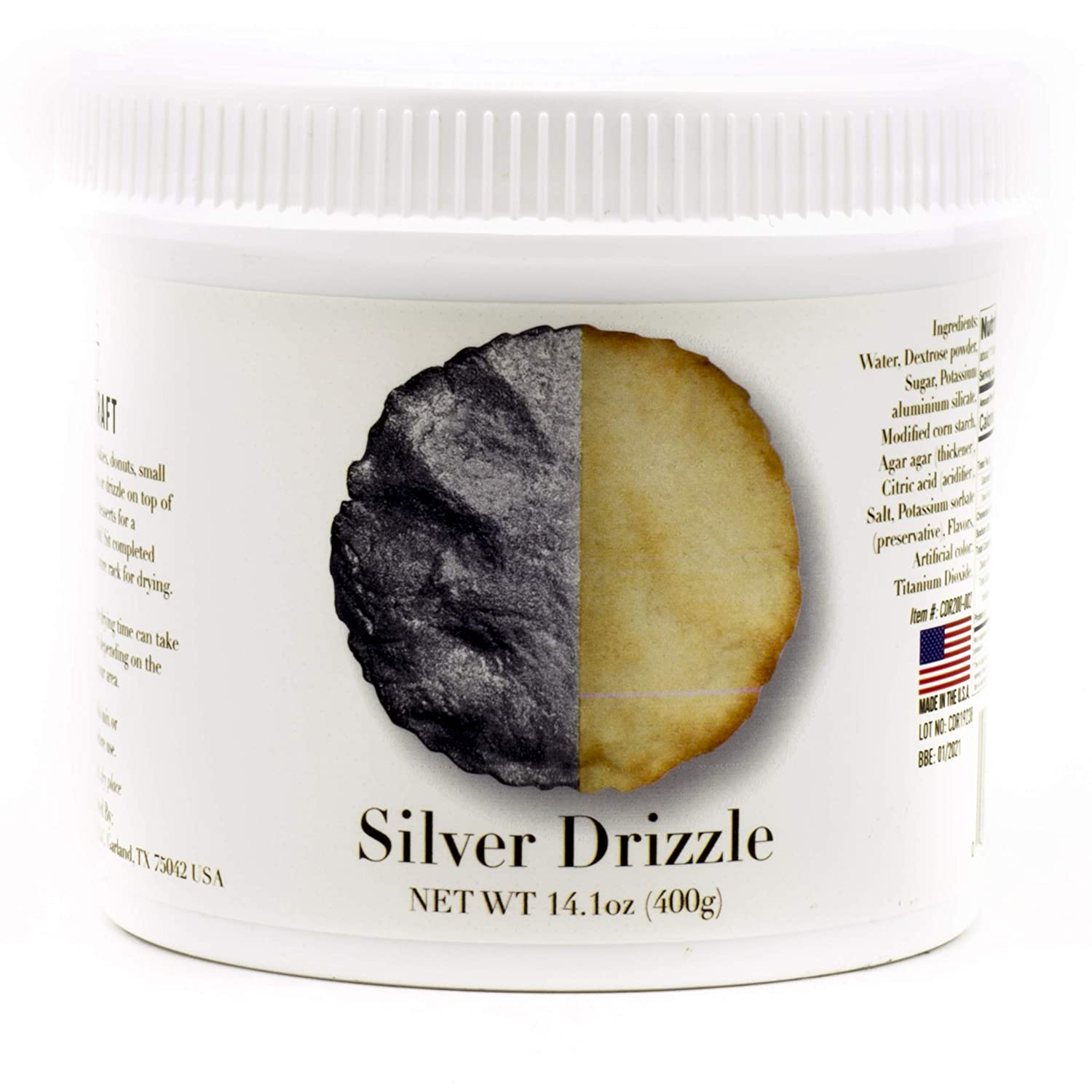 Cake Craft Silver Drizzle 14.10 Ounces