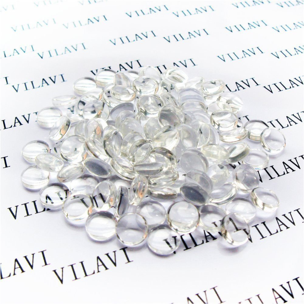 Necklaces Rings MMBOX 100 Pieces Glass Dome Cabochons Clear Round Cabochons Tiles Clear Cameo 25 mm// 1 Inch Photo Jewelry Non-calibrated Round for Cameo Pendants
