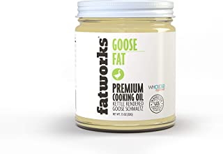 product image for Fatworks, Traditional Goose Fat, Pasture Raised on US Family Farm, USDA, WHOLE30 APPROVED, KETO, PALEO,7.5 oz.