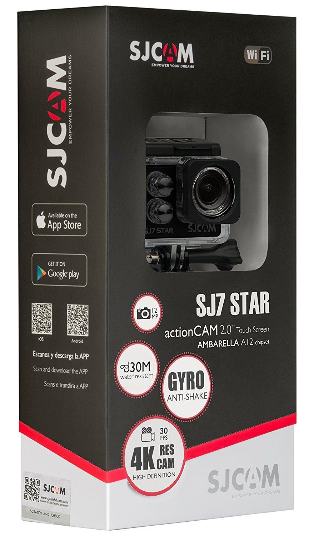 SJCAM SJ7 STAR 4K 12MP 2'' Touch Screen Metal Body Gyro Waterproof Sports Action Camera BLACK by SJCAM (Image #4)