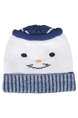 Mountain Warehouse Bonnet Enfant Hiver Garçon Fille Bébé Bonhomme de Neige  Rigolo Blanc Taille Unique 1bb9907a139