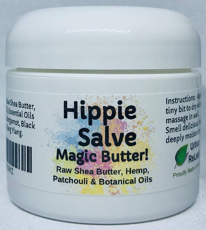 Urban ReLeaf Hippie Salve Magic Butter ! Groovy Botanicals, Shea Butter and 100% Natural, Patchouli, Ylang, Bergamot, Vitamin Rich, Deeply Moisturizing & Healing