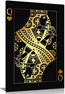 King & Queen of Hearts Bedroom 2 Canvas Wall Art Picture Print Home Decor (24x16in)