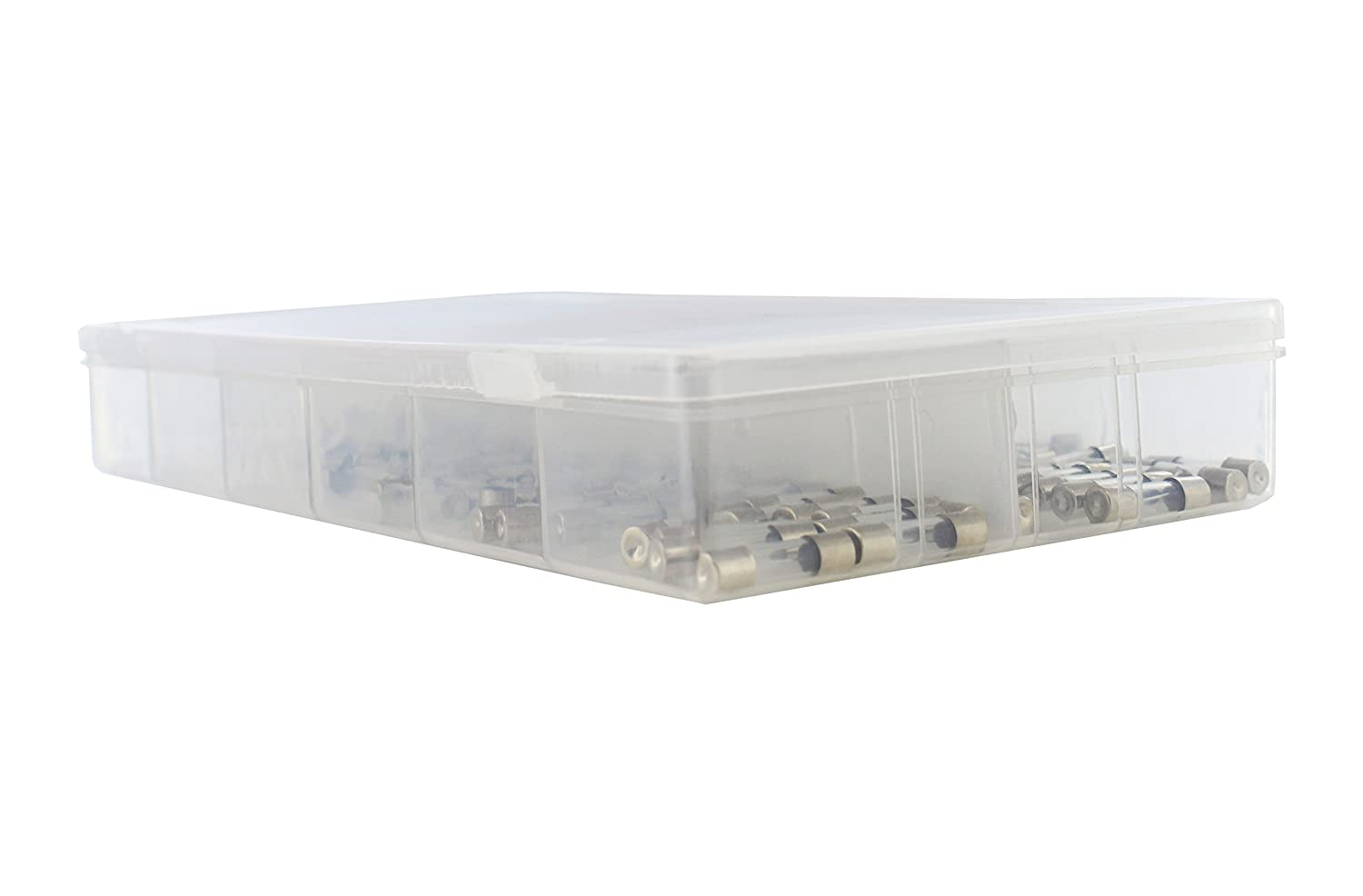 0.2A to 15A Fuses Assortment Kit for Automotive 12 Volt ABN Glass Tube 5x20mm 100-Piece Fuse Set with Carrying Case