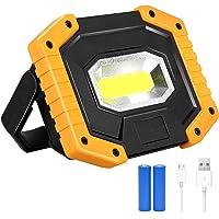 Luz de Trabajo LED Recargable, T-SUN Luz de Inundación Portátil 30W, 3 Modos, Foco LED Recargable Para la Reparación de…