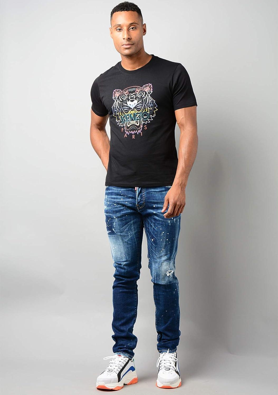 maglietta da uomo con tigre arcobaleno Kenzo