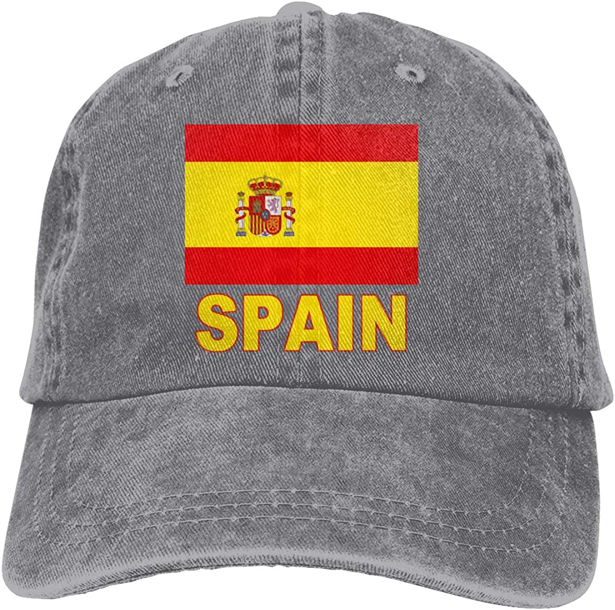 Adult Fashion Cotton Denim Baseball Cap The Pride of Spain Classic Dad Hat Adjustable Plain Cap