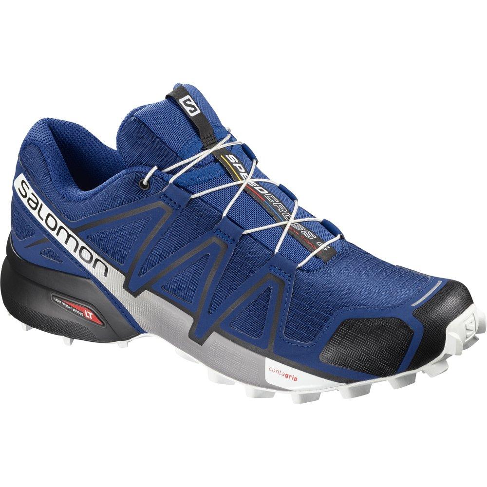 Salomon Men's Speedcross 4 Trail Running Shoe B07BRLQ6XF 7 D(M) US|Mazarine Blue Wild/Black/White