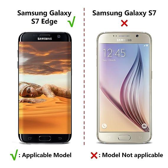 philonext 3 unidades Samsung Galaxy S7 Edge Protector de pantalla, Pet Protector de pantalla para Samsung S7 Edge, a prueba de golpes - ALTA DEFINICIÓN ...