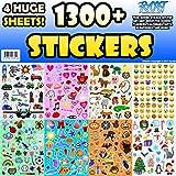 Sticker Sheet Assortment Set, 1300+ Stickers, Year Round Variety Pack by Rycast, for Children, Kids, Parents, Teachers, School, Crafts, Calendars, Planners, Scrapbooks, Emoji