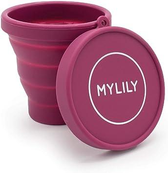 MYLILY® Copas menstruales Case | Vaso de limpieza para microondas | Plegable | Vaso esterilizador para almacenamiento y limpieza | 200 ml de capacidad