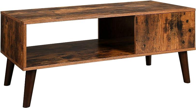 Amazon Com Vasagle Retro Coffee Table Cocktail Table Mid