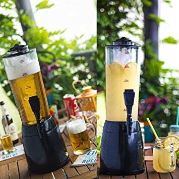 JinTou DisPensador de Cerveza | Torre de la Cerveza, disPensador de Bebidas de 2,5 LTR con cámara de Hielo extraíble | DisPensador de Bebidas: Amazon.es: ...