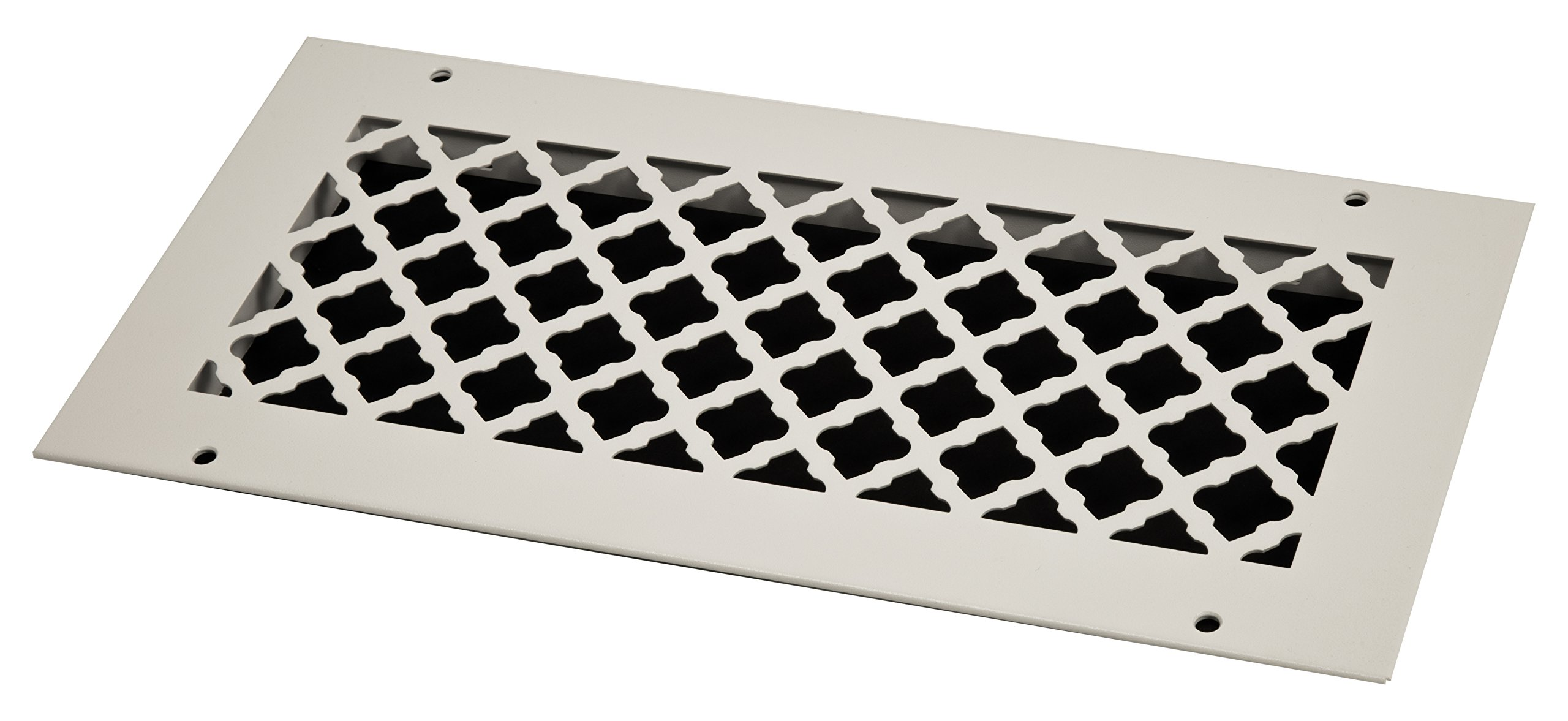 SteelCrest BTU14X6RWHH Bronze Series Designer Wall/Ceiling Vent Cover, with mounting Screws, White