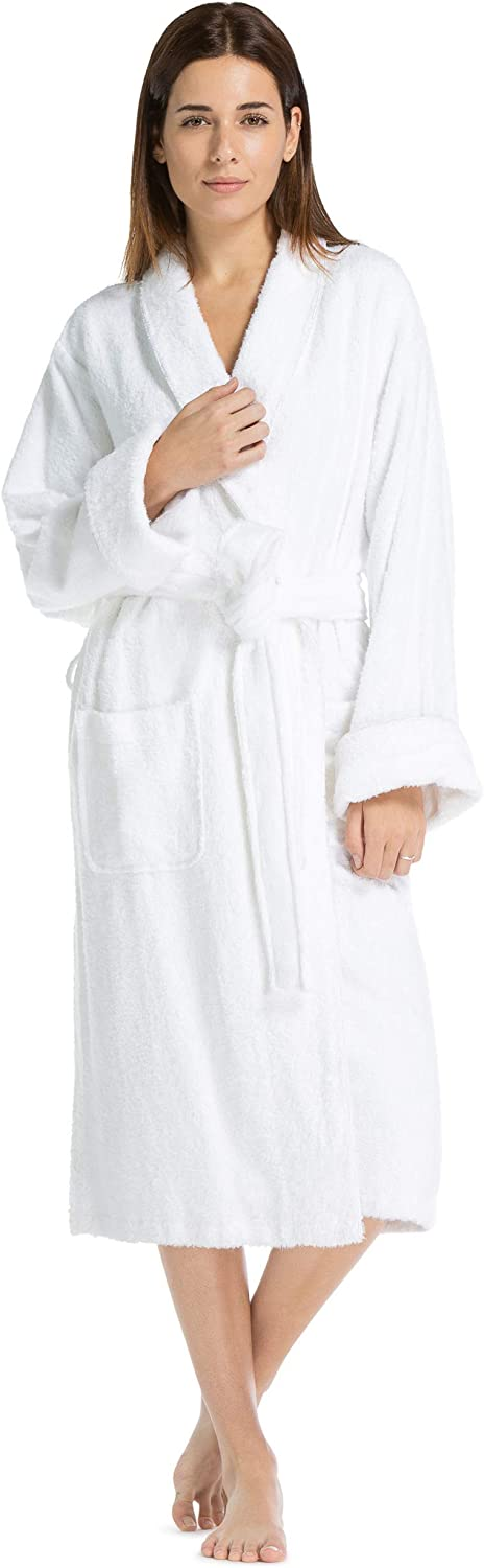 Fishers Finery Women's EcoFabric Resort Hotel Spa Terry Robe Full Length