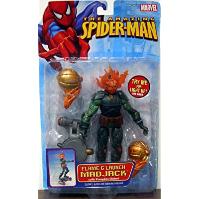 Toy Biz The Amazing Spider-Man Flame & Launch Mad Jack Action Figure: Toys & Games