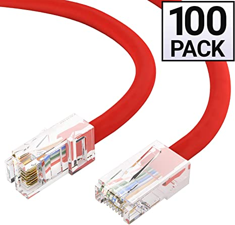 24AWG Network Cable with Gold Plated RJ45 Snagless//Molded//Booted Connector 1Gigabit//Sec High Speed LAN Internet//Patch Cable GOWOS Cat5e Ethernet Cable Purple 50-Pack - 0.5 Feet 350MHz