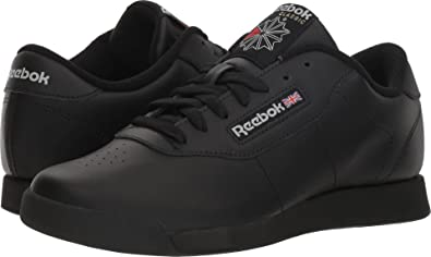 3e64dff09fc Reebok Women s Princess Wide D Premium Walking Shoe Black Grey 7.5 US