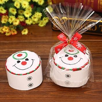 minuya algodón Modelado - Toalla Tarta Manopla para decoración navideña Papá Noel Muñeco de nieve Árbol Árbol de Navidad Cupcake Estilo creativo regalos: ...