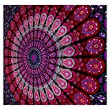 GLOBUS CHOICE INC. Mandala Tapestry Bohemian Wall Hanging, Psychedelic Wall Art, Dorm Décor Beach Throw, Indian Wall Tapestries Art