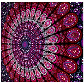 Mandala Tapestry Bohemian Wall Hanging, Psychedelic Wall Art, Dorm Décor  Beach Throw, Indian Part 40