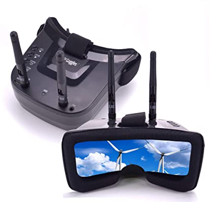 Readytosky Mini 3 Inches FPV Goggles 5 8GHZ 40CH 480 x 320 Display Video  Headset Build-in 3 7V 1200mAh Battery