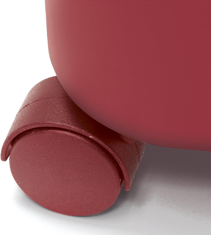 Polypropyl/ène Rouge 25.5/x 39/x 36.5/cm MERY 0325.34/Seau avec Roues