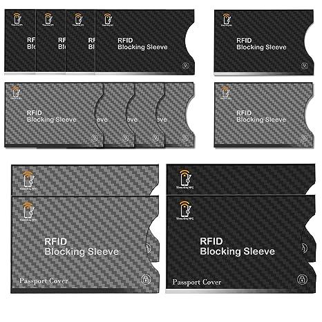 Bloqueo RFID,TimesKey 14 Piezas Tarjeteros Para Tarjetas de ...