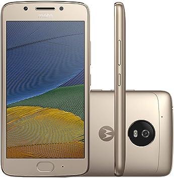 Motorola Moto G Smartphone (5Th Gen) G5-4G LTE Dual Sim Xt1671 32Gb con Huellas Dactilares Octa Core Desbloqueado Oro: Amazon.es: Electrónica