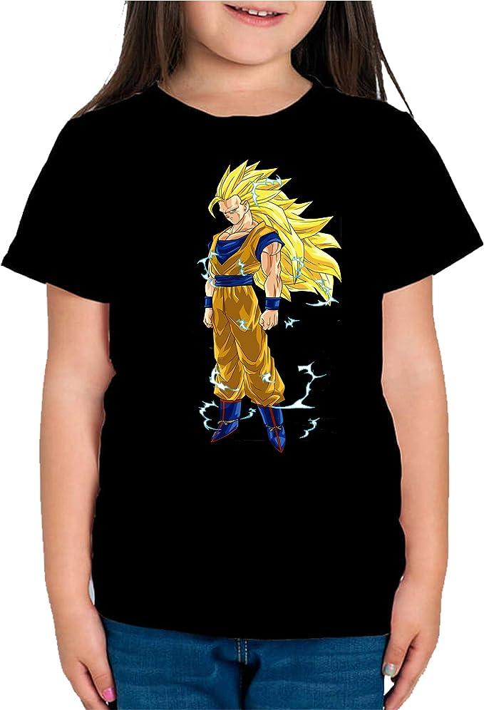 The Fan Tee Camiseta de NIÑAS Dragon Ball Goku Vegeta Bolas de Dragon Super Saiyan 146: Amazon.es: Ropa y accesorios