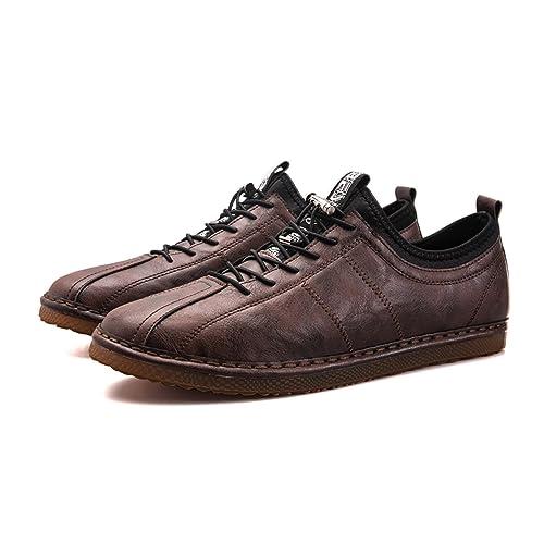 QLVY Zapatos de Cuero Casuales de Hombre de Vestir Mocasines Zapatos de Oxford: Amazon.es: Zapatos y complementos
