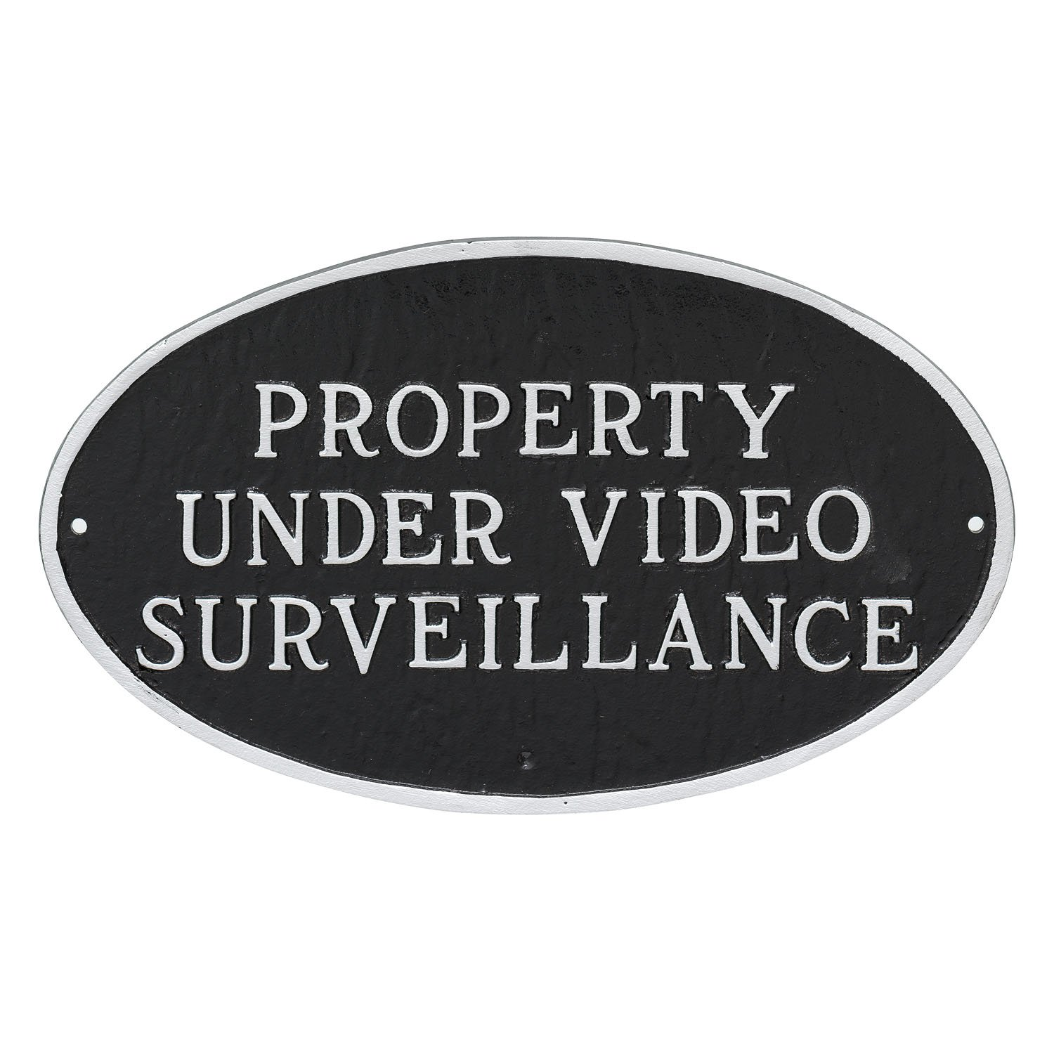 Montague Metal Products Property Under Video Surveillance Statement Plaque, Black with Silver Letter, 6'' x 10''