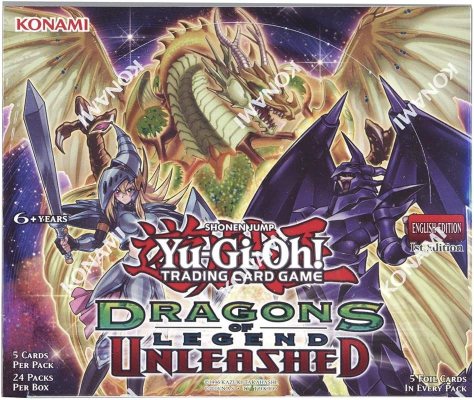 Yu-Gi-Oh DRAGONS OF LEGEND UNLEASHED Sealed 1st Edition English Booster Box