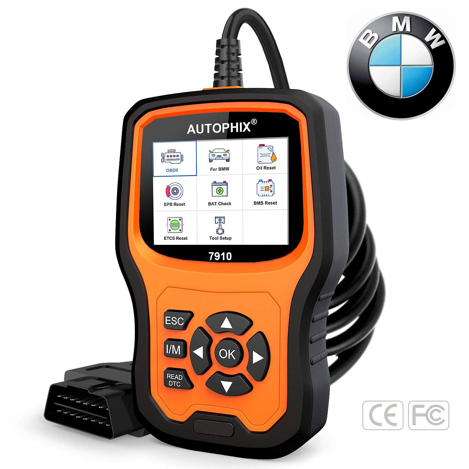 AUTOPHIX Diagnostic Scanner Tool for BMW,7910 Multi-System OBD2 Scanner  Auto Fault Code Reader with BMW Battery Registration