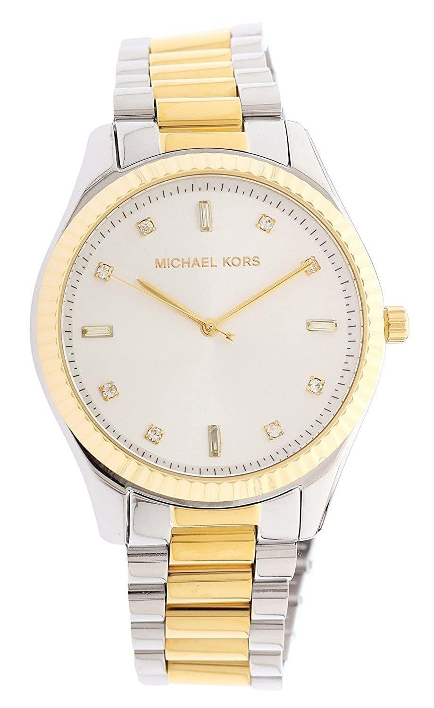 Amazon.com: Michael Kors Womens Two-Tone Blake Glitz Dial Watch MK3421: Watches