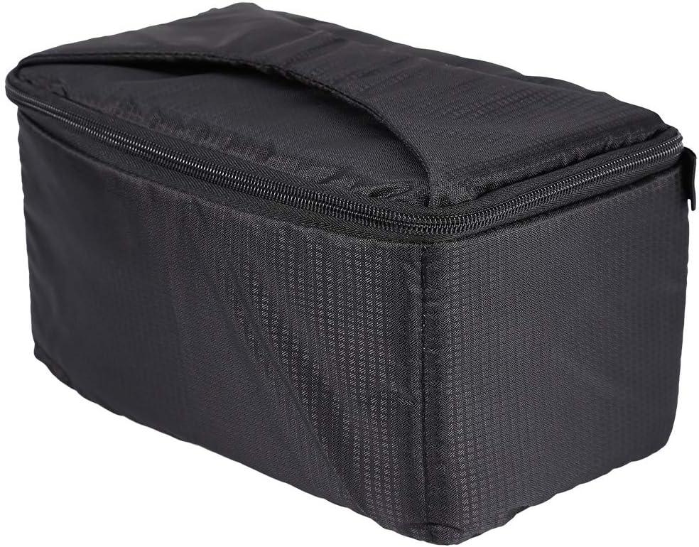 Serounder Lens Case Portable Overlap Zipper Full Padded Bag Pouch with Carry Strap for DSLR Camera Lens