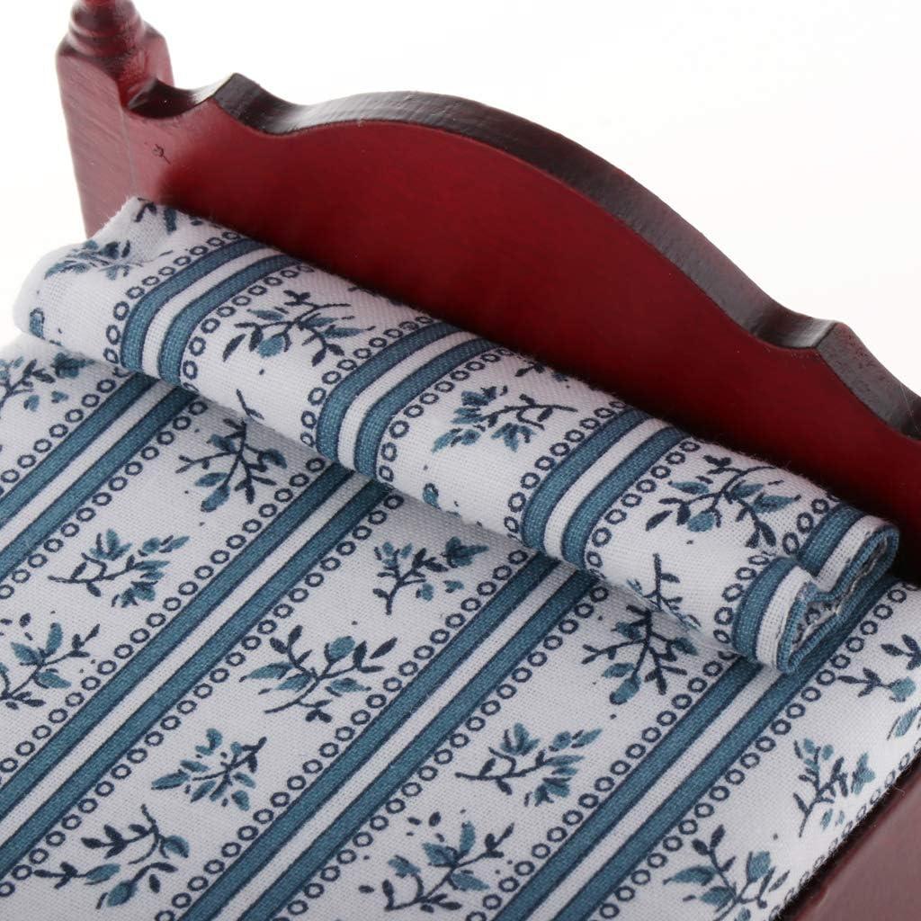 #N//A Cama Individual en Miniatura 1:12 con mesita de Noche Juguetes de mu/ñecas