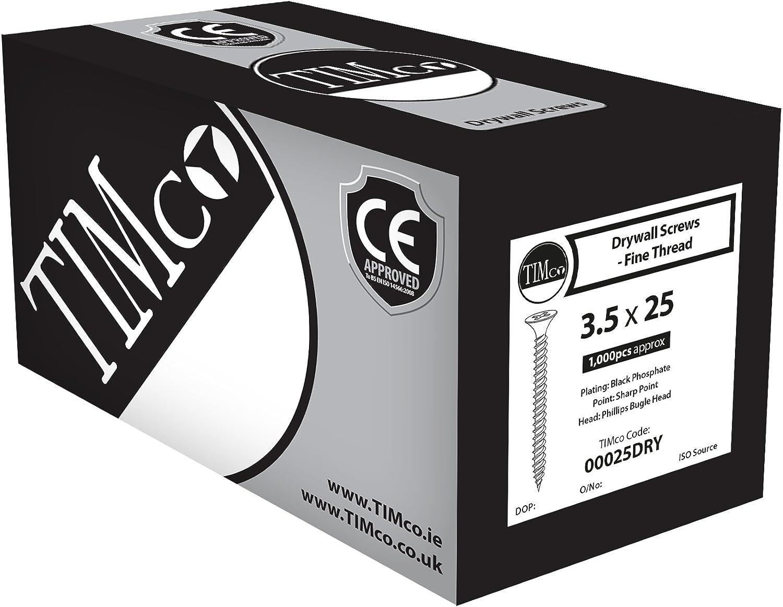 TIMco PH2 Bo/îte de 200/vis /à t/ôle pour cloison s/èche Noir 00032DRYS